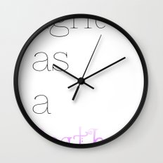 Light as a Feather Wall Clock