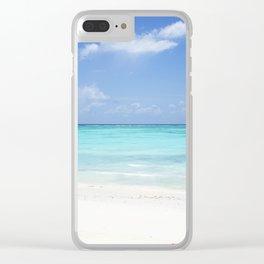 beach, Zanzibar, Tanzania Clear iPhone Case