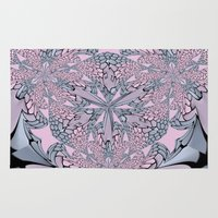 pantone Area & Throw Rugs featuring Ornate Abstract - Pantone by Bella Mahri-PhotoArt By Tina