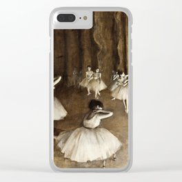 Edgar Degas - Ballet Rehearsal On Stage Clear iPhone Case