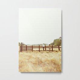 Fence Standing Metal Print