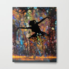 Color Ballerina Metal Print
