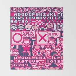 Glitched Mario Throw Blanket