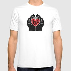 Hold hope in your heart Mens Fitted Tee MEDIUM White