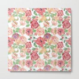 Beautiful Roses - floral, flowers, flower Metal Print