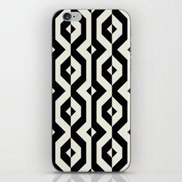 Modern bold print with diamond shapes iPhone Skin