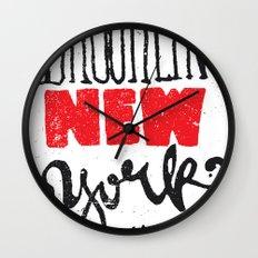 Brooklyn New York Wall Clock