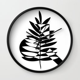 Geometric leaf Wall Clock