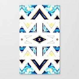 X Triangle Textile Pattern Canvas Print