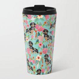 Dachshund dapple coat dog breed floral pattern must have doxie gifts dachsies Travel Mug