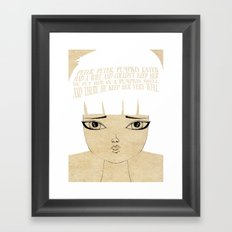 Kept Her Very Well - Lessons From Mother Goose Series Framed Art Print