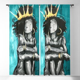 Naturally Queen IX TEAL Blackout Curtain