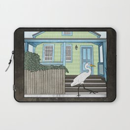 Great Egret and House Laptop Sleeve
