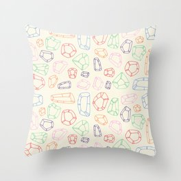 semiprecious Throw Pillow
