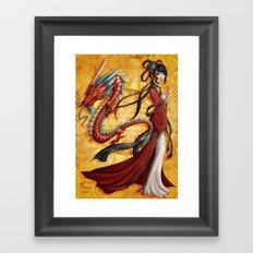 Chinese dragon Framed Art Print