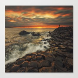 Basaltic Sunset Canvas Print