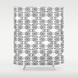 Space Bug Shower Curtain