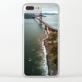 san francisco golden gate bridge Clear iPhone Case