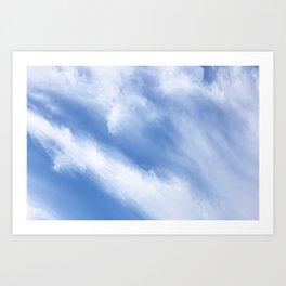 Cirrus Cloud streams Art Print
