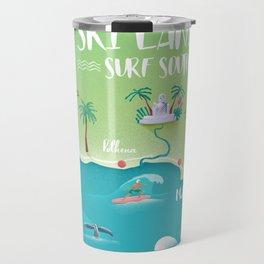 Surf Map Sri Lanka South Travel Mug