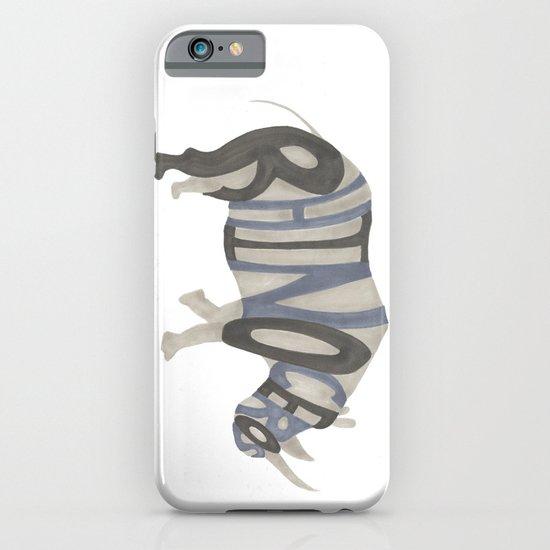 Rhinoceros Typography iPhone & iPod Case
