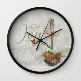A Spoonful of Hummingbird Wall Clock