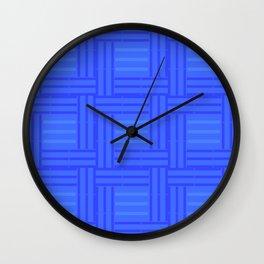 Elour Blue Tile Wall Clock