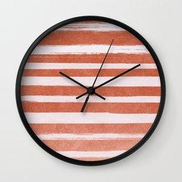 Copper Foil Stripes Wall Clock