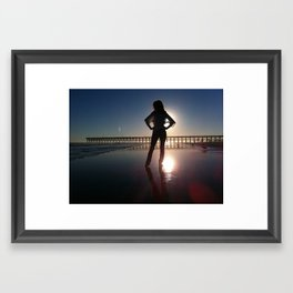 Sunset Silhouette Framed Art Print