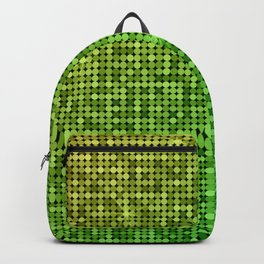 Shiny Disco Ball Yellow To Green Backpack