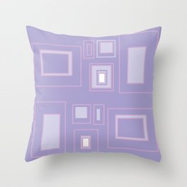 Abstract lilac background with squares Throw Pillow
