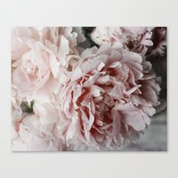 peonies Canvas Prints featuring Peonies  by Pure Nature Photos