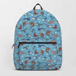 Sharks in the light blue Backpack