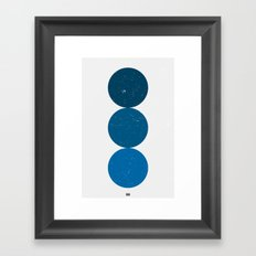 blue i 001 Framed Art Print