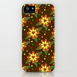 Beautiful Flowers with Heart Pistil Pattern iPhone Case