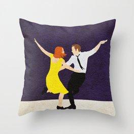 La La Land Alternative Minimalist Film Poster Throw Pillow