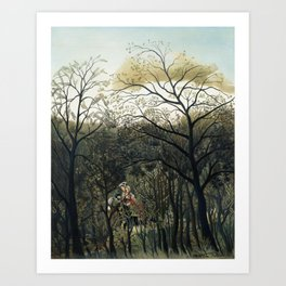 Rendezvous in the Forest Art Print