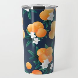 Orange Twist Flower Night Vibes #2 #tropical #fruit #decor #art #society6  Travel Mug