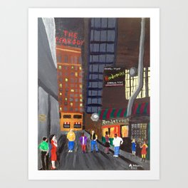 Rendezvous Alley, Memphis Art Print