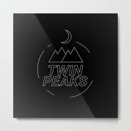 Twin Peaks simbol Metal Print
