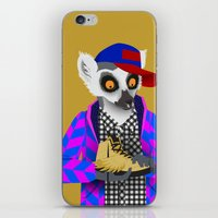 sneaker iPhone & iPod Skins featuring Sneaker Lemur by Dyna Moe