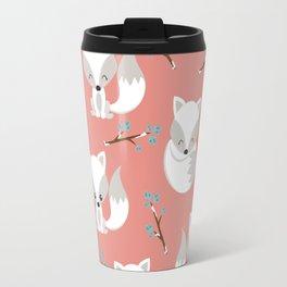ARCTIC FOXES ON CORAL Travel Mug