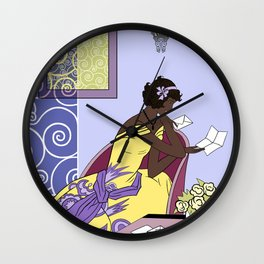 CLARICE: Art Deco Lady - Elegant Spring Wall Clock