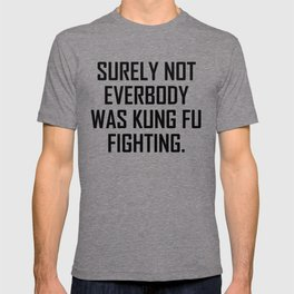 Surely not everybody was kung fu fighting. T-shirt
