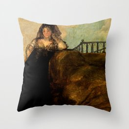 "Francisco Goya ""La Leocadia (Doña Leocadia)"" or ""The Seductress (Una Manola)"" Throw Pillow"