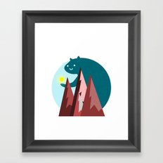 A Bright Sunrise Framed Art Print