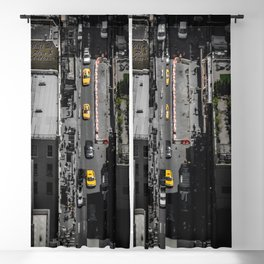 Yellow Cab from Above - Original #society6 exclusive Blackout Curtain