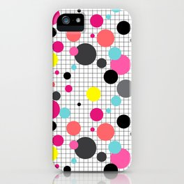 Print in memphis style design iPhone Case