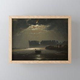 The North Cape by Moonlight by Peder Balke, ,1848 Framed Mini Art Print