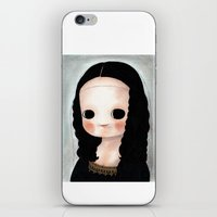 mona lisa iPhone & iPod Skins featuring Mona Lisa by Evangelione